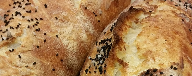 Image of close up of housemade sourdough bread
