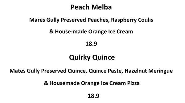 Image of Mates Gully Dessert Pizza Menu